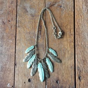 Luck brand feather necklace